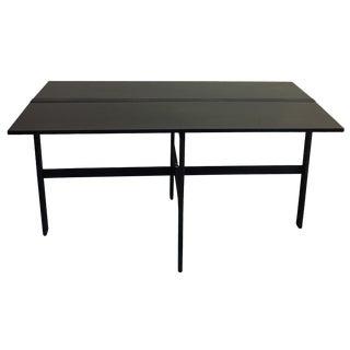 Black Metal Drop-Leaf Table