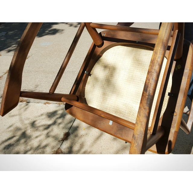Mid-Century Modern Spindle Rocking Chair - Image 10 of 11
