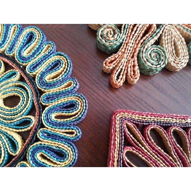 Vintage Straw Trivets - Set of 3 - Image 3 of 8