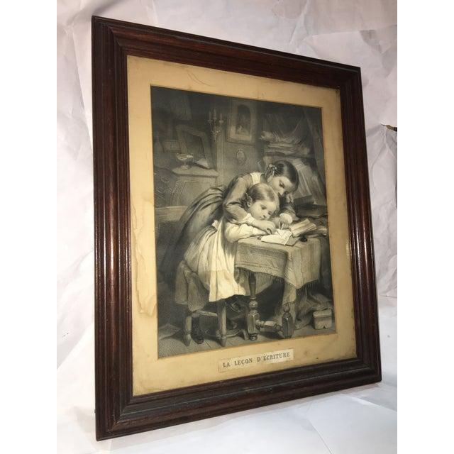 """19th Century """"The Writing Lesson"""" Lithograph - Image 3 of 11"""