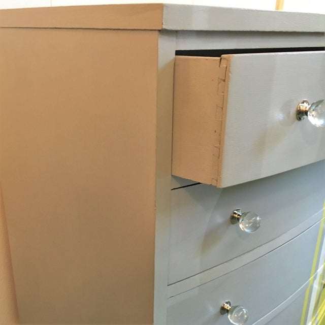 Grey & White Striped Chest of Drawers - Image 6 of 6