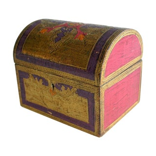 Florentine Pink & Plum Domed Trinket Box