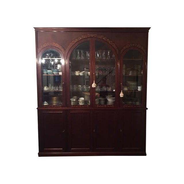Atrium dining china cabinet chairish for Atrium white kitchen cabinets