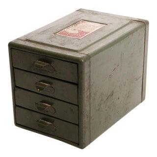 Vintage Industrial Green 4 Drawer Organizer Bin