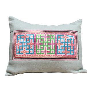 Hmong Cross Stitch Pillow
