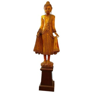 19th Century Carved Buddha Statue