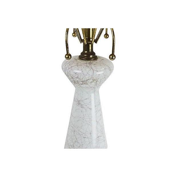 1950s Glass Lamp & Fiberglass Shade - Image 3 of 6