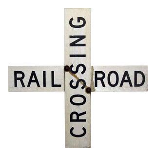 Vintage Crossing Rail Road Sign