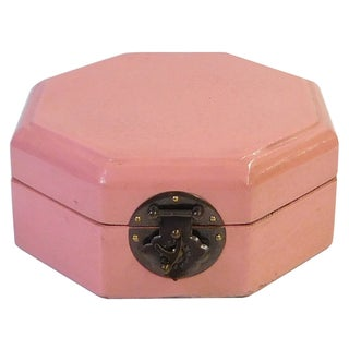 Octagonal Chinese Box in Pink