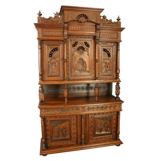 Antique French Brittany-Style Chestnut Cabinet
