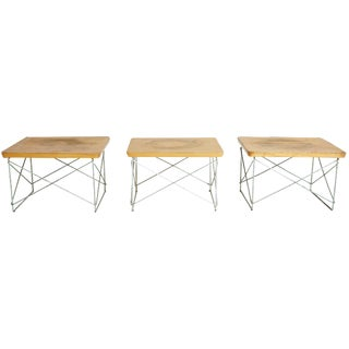 1950s Birch LTR Tables by Eames - Set of 3
