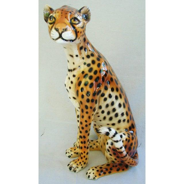 Large Hollywood Glam Mid-Century Italian Cheetah - Image 10 of 11