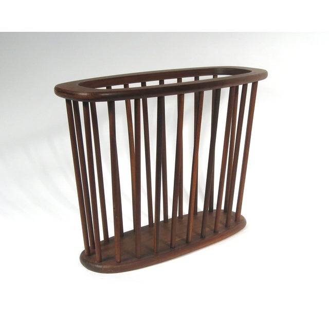 Mid Century Walnut Magazine Rack - Image 2 of 4