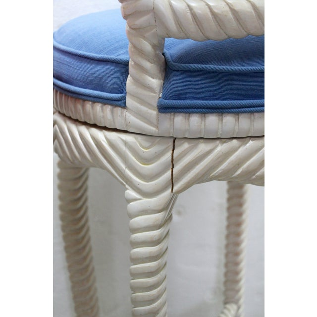 Italian Carved Rope & Tassel Bar Stools - Pair - Image 7 of 7