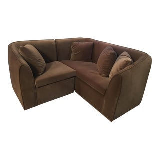 Nutmeg Brown Velvet Sectional