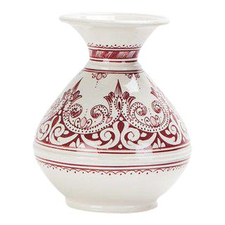 Moroccan Red Handcrafted Ceramic Vase