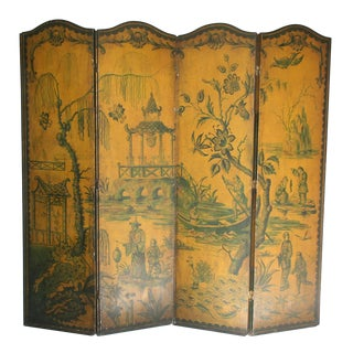 Four-Panel Chinoiserie Screen