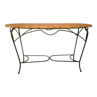 Palecek Arabesque Rattan & Iron Console Table