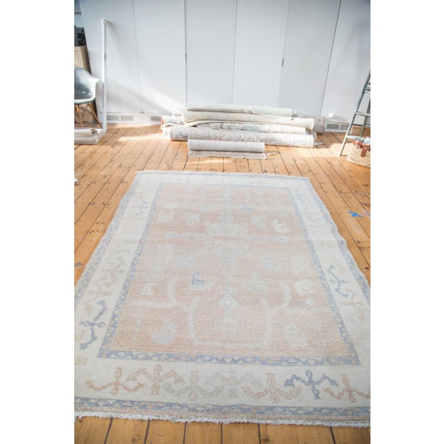 "Distressed Oushak Carpet - 5'9"" X 7'9"" - Image 7 of 7"
