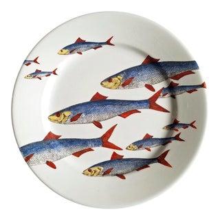 A Piero Fornasetti Fish Plate, Passata de pesce (Passage of Fish), Circa 1950s.