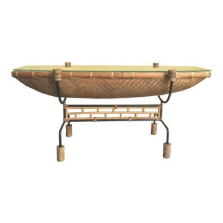 Vintage Pacific Style Rattan Console