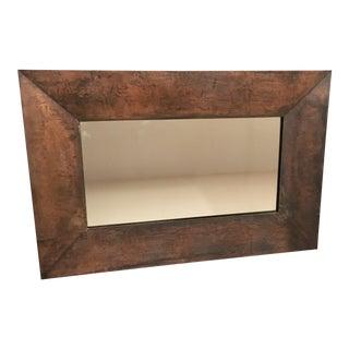 Distressed Rectangular Copper Mirror