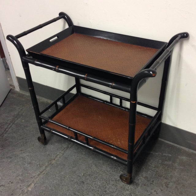 Hand Crafted Tea Cart from the Philippines - Image 2 of 9