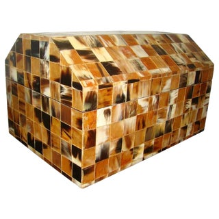 Enrique Garcel Tessellated Horn Chip Box