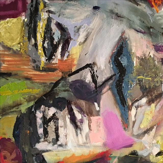 JJ Justice Abstract Oil Painting - Image 7 of 7