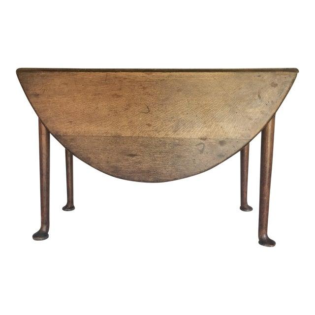 Antique 19th C. English Oak Drop-leaf Gate Leg Table - Image 1 of 10