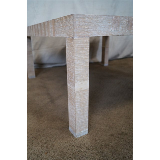Jonathan Charles Houndstooth Parsons Coffee Table - Image 4 of 10