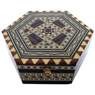 Boho Chic Inlay Wood Box
