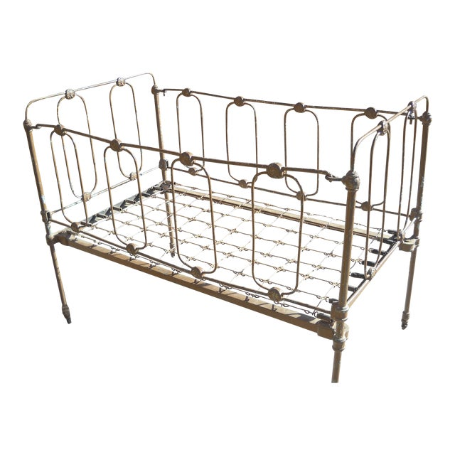 1800s Metal Crib - Image 1 of 8