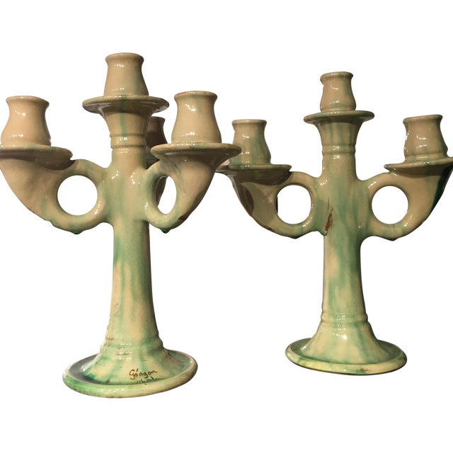 Old Italian Candlestick Holders - A Pair - Image 1 of 6