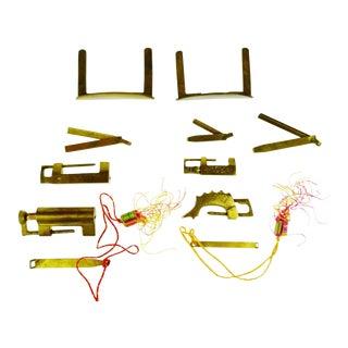 Assortment of Asian Brass Locks & Keys