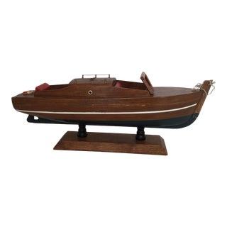 Handmade Wood Boat Model