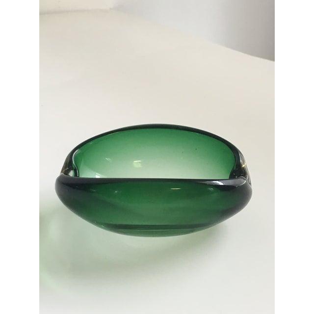Alfredo Barbini Murano Glass Green Ashtray - Image 4 of 7