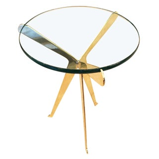 "Customizable ""Fiore"" Brass Side Table Designed by Gaspare Asaro-Large Version"