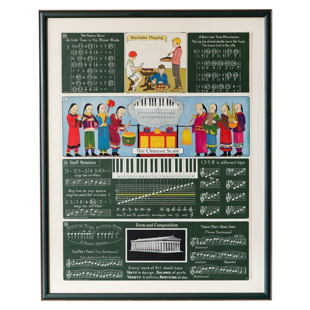 Antique Framed 1920's Music Lesson - Image 1 of 6