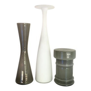 Gray & White Vessels - Set of 3