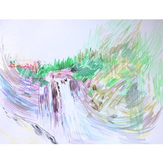 """""""Snoqualmie Falls"""" Drawing by Jenny Vorwaller"""