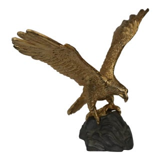 Gilt Bronze and Pewter American Eagle