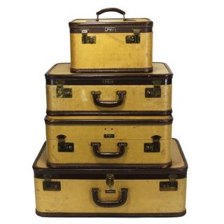 Vintage Suitcases - Set of 4