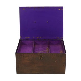 Purple Metal Box with Handle