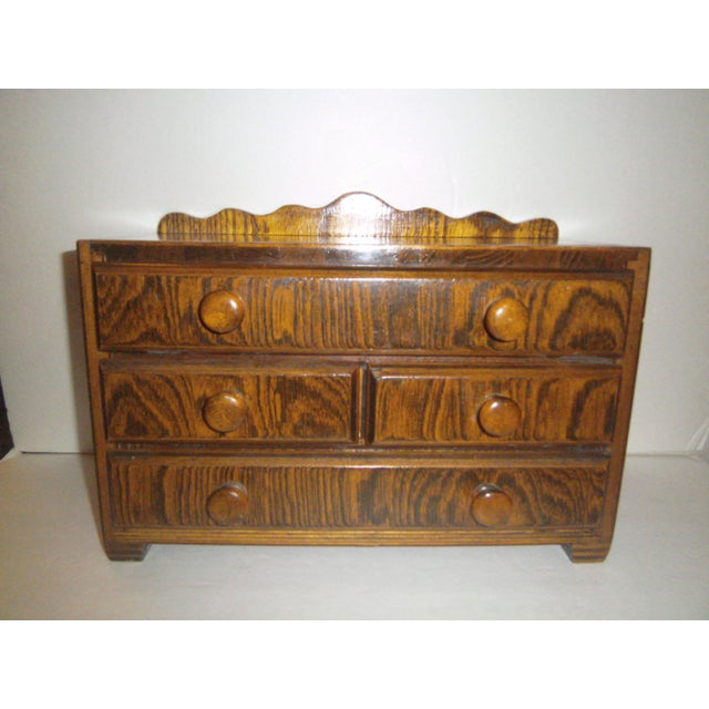 Hand Made Vintage Jewelry Chest - Image 2 of 8