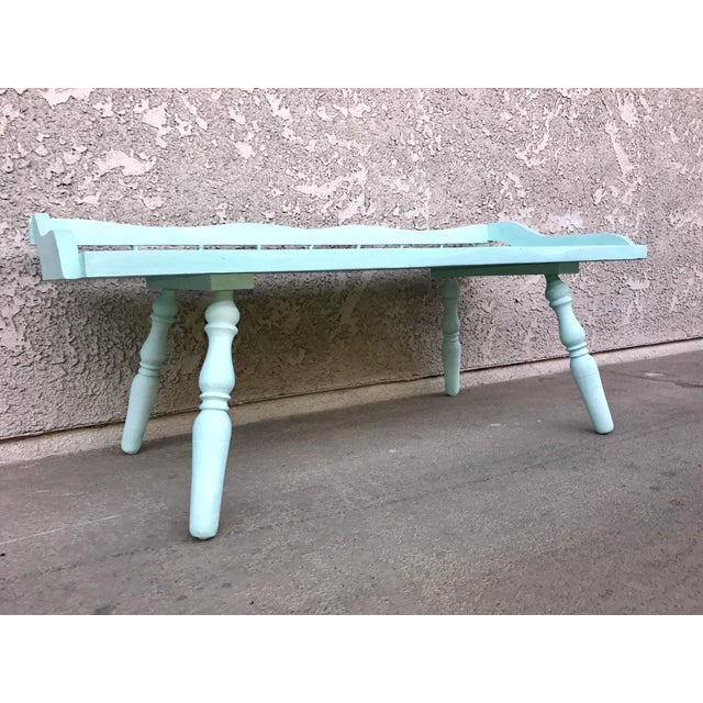 Shabby Chic Painted Farmhouse Style Coffee Table - Image 3 of 10