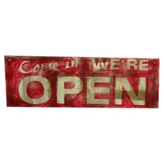 Hand Made Vintage Style Double Sided Wooden Sign