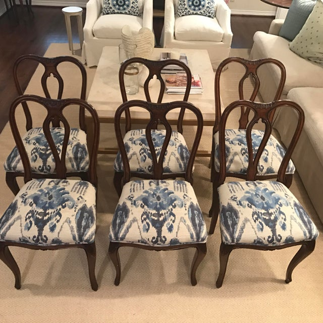 Antique French Dining Chairs - Set of 6 - Image 2 of 5