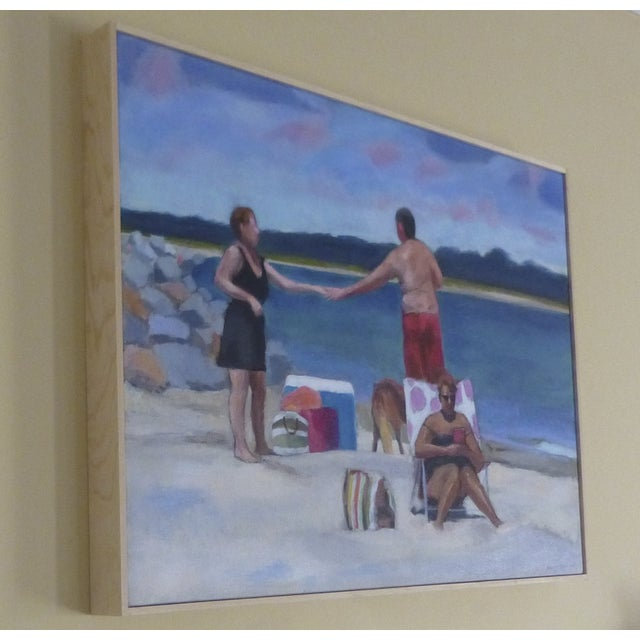 Image of Original Painting - Love at the Beach by Anne Carrozza Remick