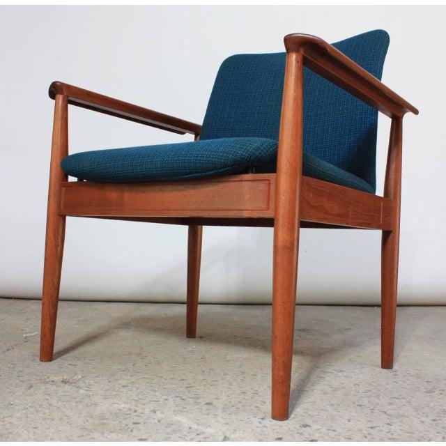Image of Pair of Finn Juhl Diplomat Armchairs for France & Son